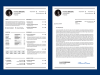 Free Infographic Resume Template with Cover Letter
