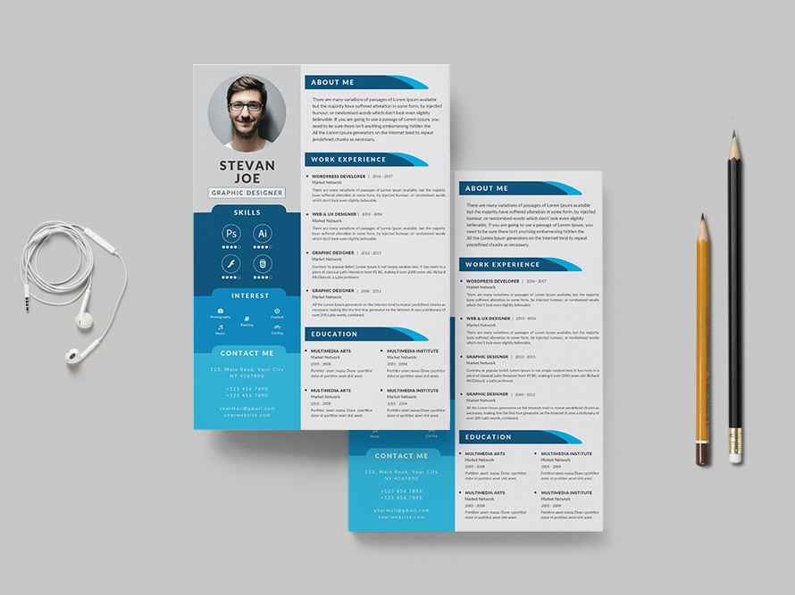 Free Professional PSD Resume Template