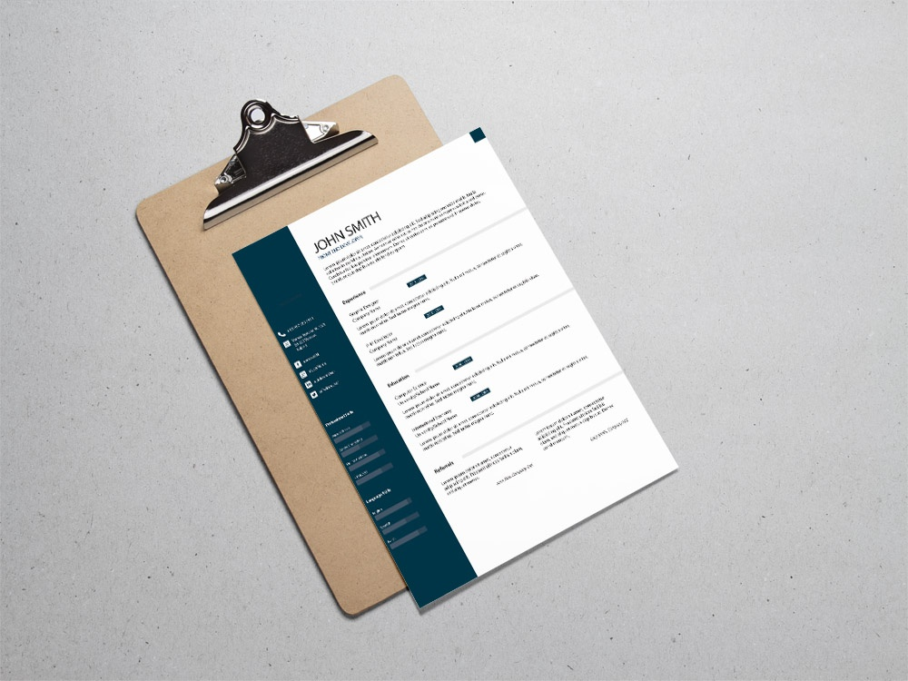 Free Formal Classic Resume Template By Andy Khan On Dribbble