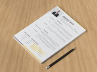 Free Clean Minimalist Resume Template