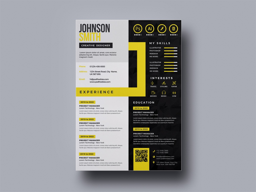 Free Multicolor Resume Template By Andy Khan On Dribbble