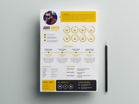 Free Infographic PSD Resume Template