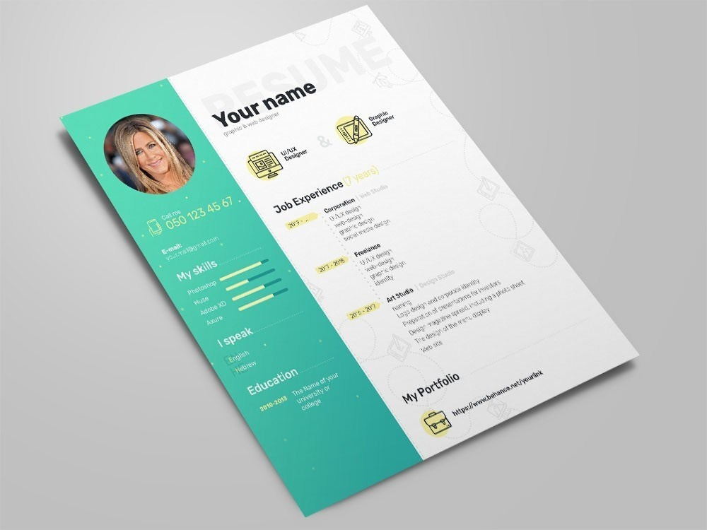 Free Elegant Photoshop Resume Template with Clean Design curriculum free curriculum vitae template curriculum vitae free resume free cv free resume template template free cv template resume psd freebies freebie