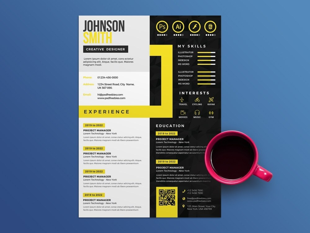 Free Creative Multicolor CV Template by Andy Khan on Dribbble