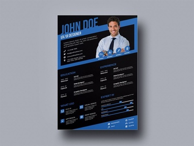 Free Stylish Designer CV Template