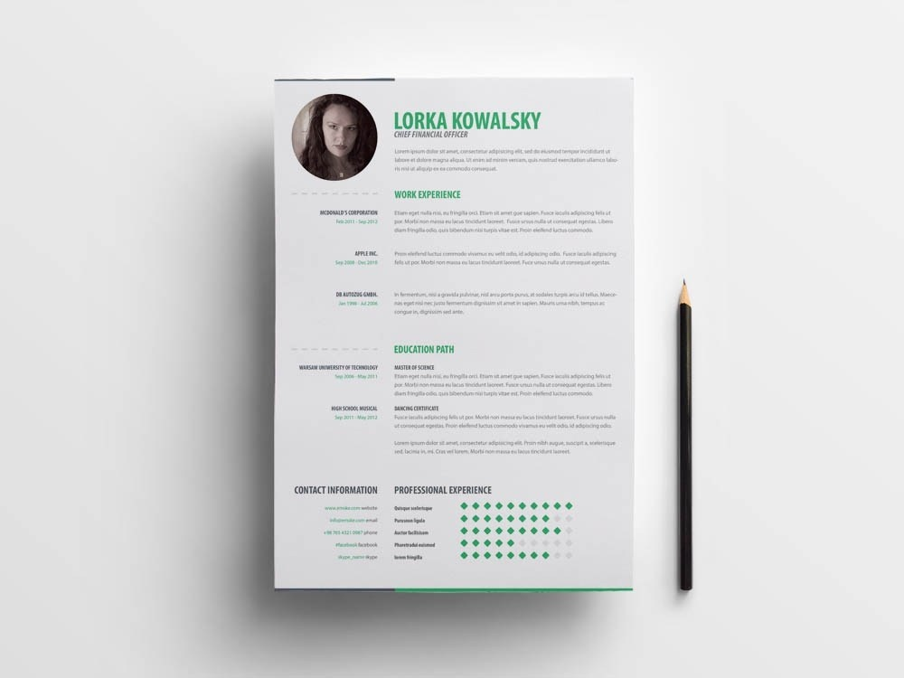 free simple creative cv template by andy khan on dribbble