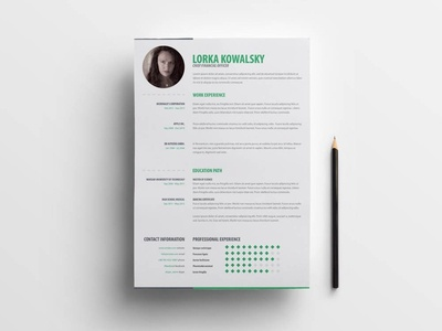 Free Simple Creative CV Template