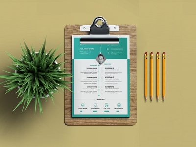 Free infographic CV/Resume template