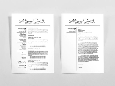 Free Classical Resume Template + Cover Letter