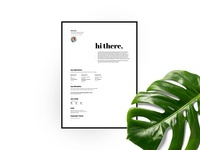 Free Minimal Resume Template With Matching Cover Letter