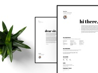 Free Typographic Resume + Cover Letter