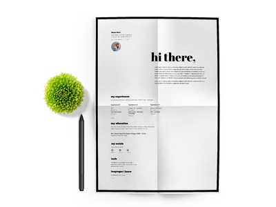 Free Typographic CV/Resume Template