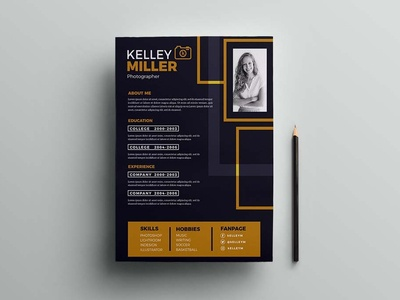 Free Illustrator Resume Template Designs Themes Templates And