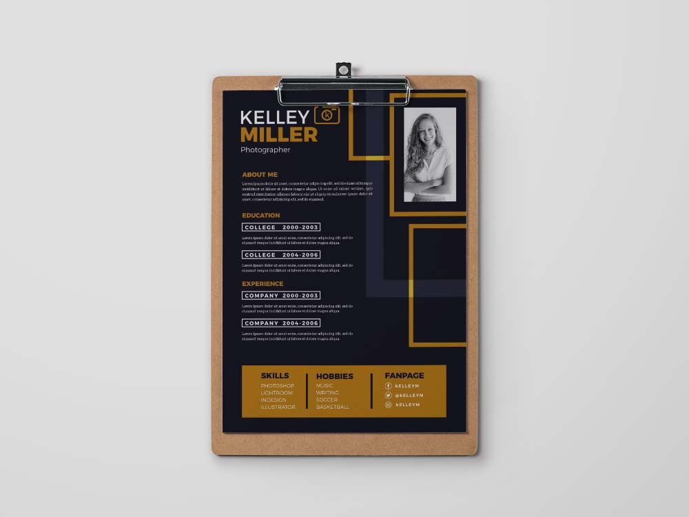 Free Unique Resume Template by Andy Khan on Dribbble