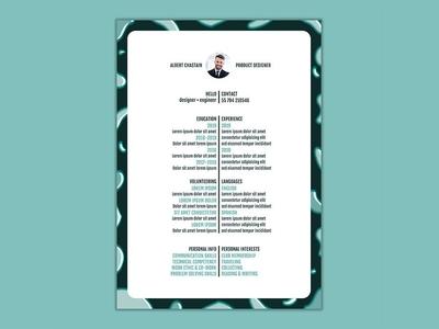Free Line Resume Template