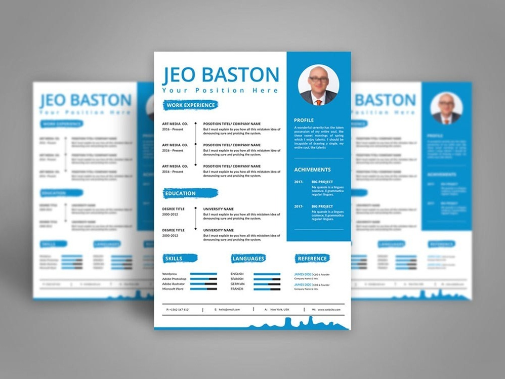 Free Modern General Resume Template by Andy Khan on Dribbble