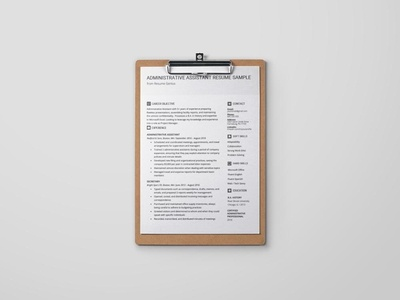 Free Administrative Assistant Template + Example