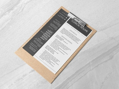 Free Clerical Resume Template