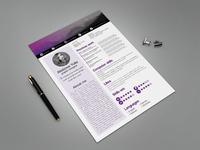 Free Modern CV Resume Template