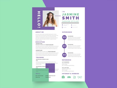 Free Fresh Stylist Resume Template
