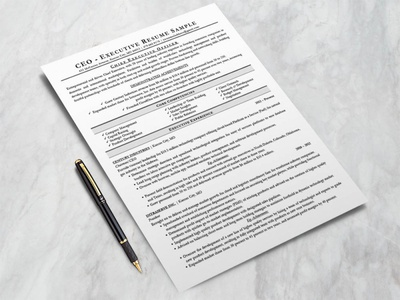 Free Executive Resume Template (CEO, CIO, CTO)