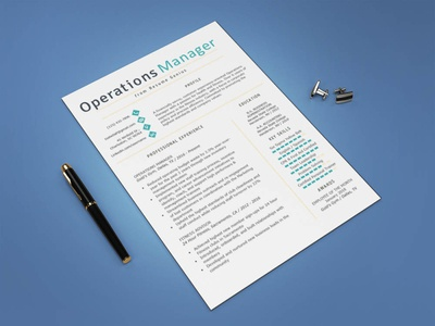 Free Operations Manager Resume Template