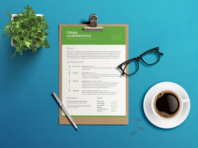 Free Green CV Resume Template