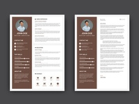 Free Brown CV/Resume Template with Cover Letter