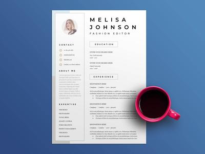 Free Fashion CV/Resume Template