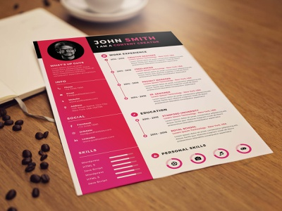 Free Content Creator Resume Template psd free cv free resume free cv template resume free resume template template free freebies freebie