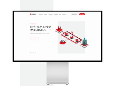 FUDO Security — design web site