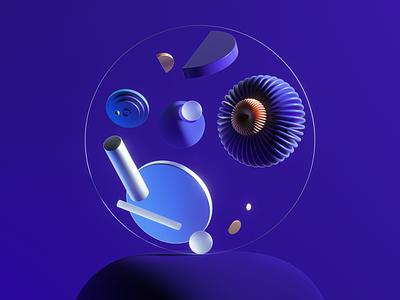 Space Shapes octane octanerender illustration abstract cinema4d c4d 3d illustration 3d