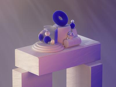 Shapes design octanerender octane cinema4d c4d abstract 3d illustration 3d illustration