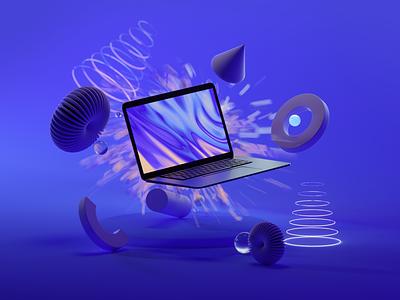 Explode design octanerender octane illustration cinema4d c4d abstract 3d illustration 3d