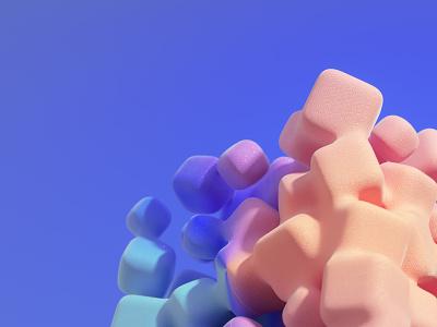 Rainbow Marshmallows design octanerender octane illustration cinema4d c4d abstract 3d illustration 3d