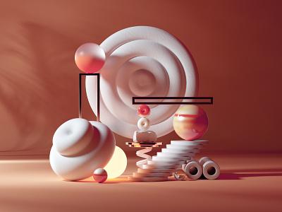 Marbles, Fabric, Bronze megascans design octanerender octane illustration cinema4d c4d abstract 3d illustration 3d