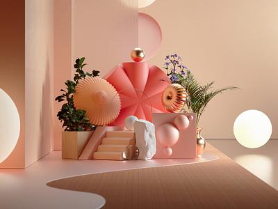 Some Flowers megascans design octanerender octane illustration cinema4d c4d abstract 3d illustration 3d