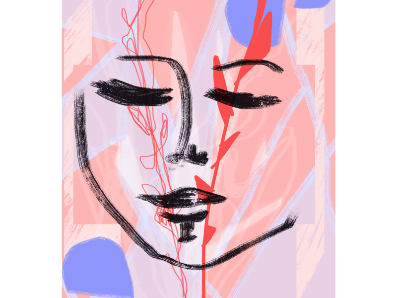 Portrait concept web illustration illustration design