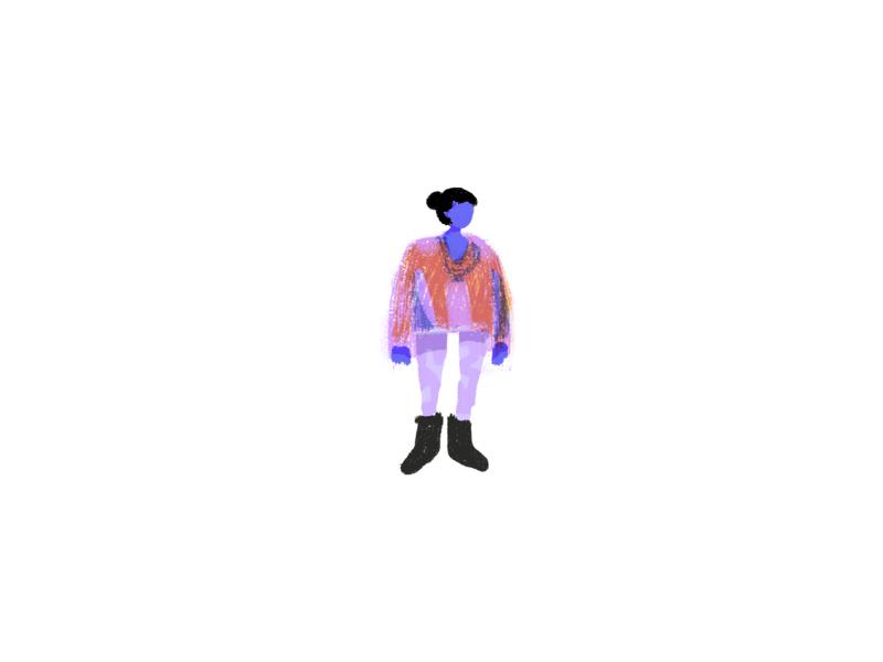 Human A home outfit girl concept web illustration illustration design