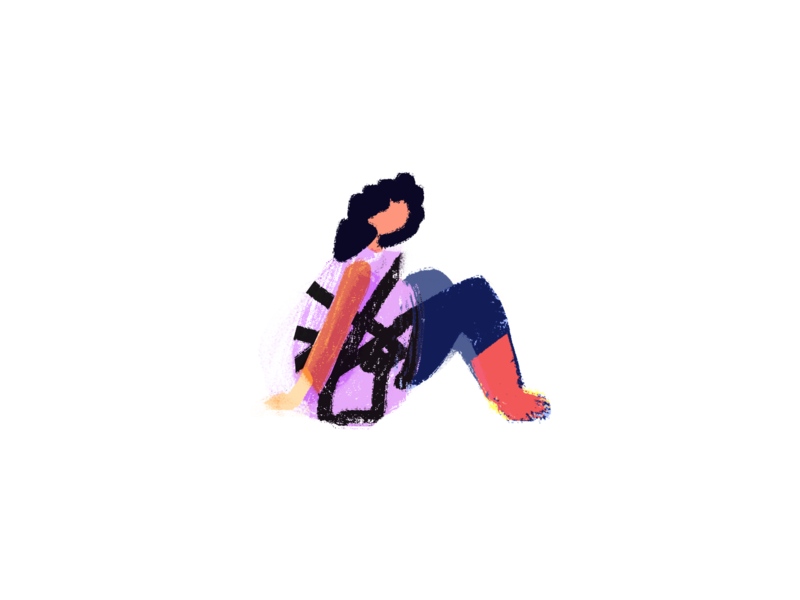 Human B home girl logo web illustration illustration design