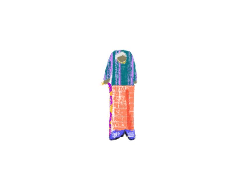 H4 human grandpa concept web illustration illustration design