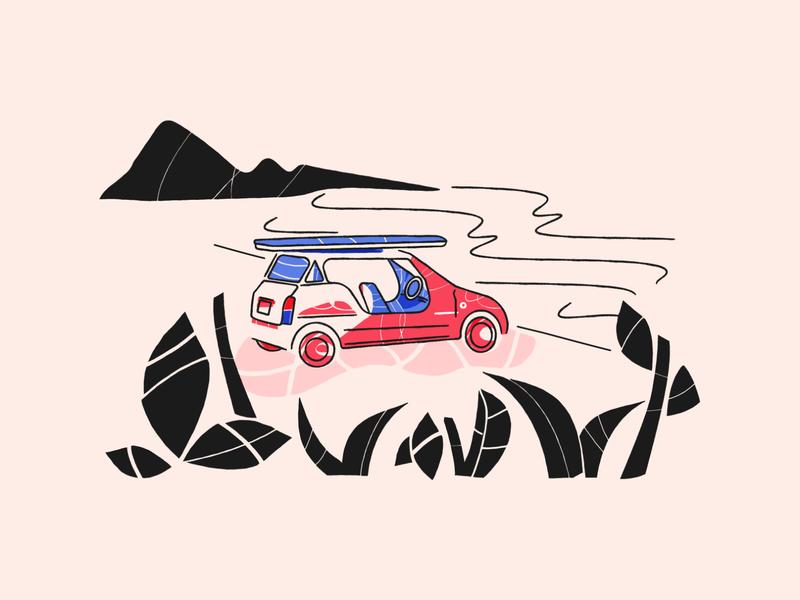 Illustration for groovehq.com sea beach moke business entrepreneur texture vector illustration design concept web illustration illustration design