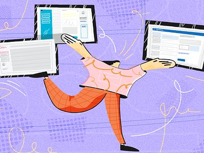 Illustration for groovehq.com texture illustration design vector concept web illustration illustration design