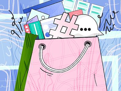 Illustration for groovehq.com/blog texture ecommerce e-coomerce vector illustration design concept design illustration