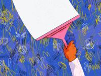 Illustration for groovehq.com/blog apology pattern texture vector concept web illustration illustration design