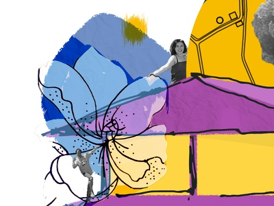 Collage design for sende.co