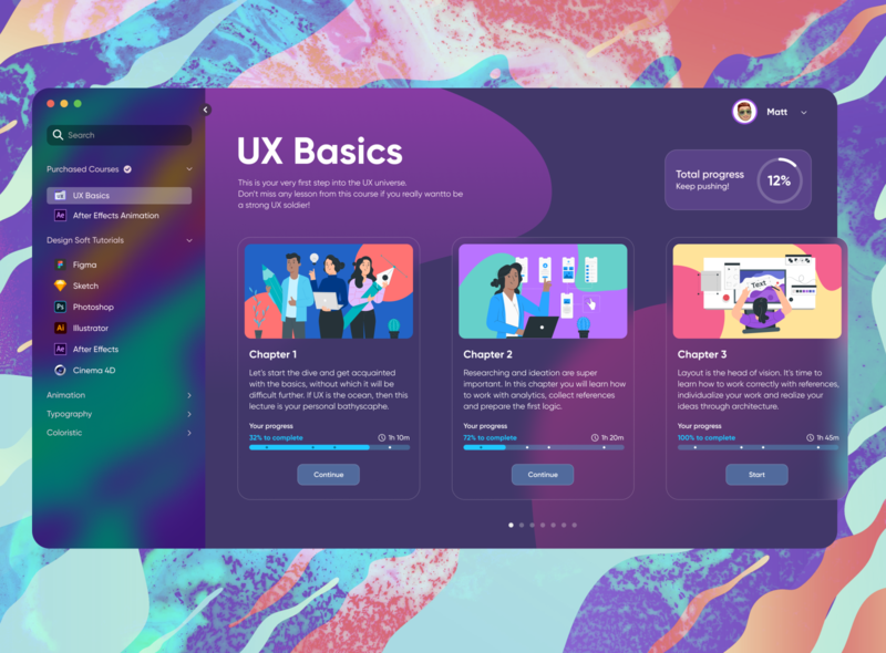 Educational Platform progress layout trendy concept website design education website education minimal ux platform graphic ui web