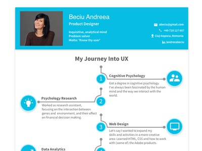 My Journey into UX illustration road designinspiration designideas ux design design cv template journey map cv design resume template resume design ux