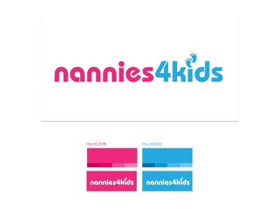 Logo Design / Nannies 4 Kids logo design branding