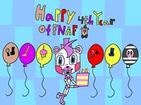 Happy 4th Birthday Fnaf In Digital